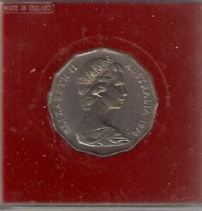 1970 AUSTRALIA 50 CENTS CAPT JAMES COOK BOTANY BAY COMMEMORATIVE