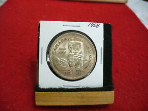 Click now to see the BUY IT NOW Price! 1958  CANADA  SILVER DOLLAR  COIN   NICE GRADE  SEE PHOTOS   58  NICE GRADE