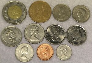 SET OF 11 DIFFERENT COINS FROM CANADA