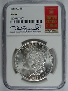 Click now to see the BUY IT NOW Price! 1885 CC $1.00 MORGAN SILVER DOLLAR RED BOOK LABEL NGC MS 67 4677