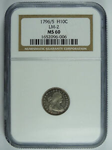Click now to see the BUY IT NOW Price! 1796/5 P $0.10 DRAPED BUST HALF DIME NGC MS 60 6234