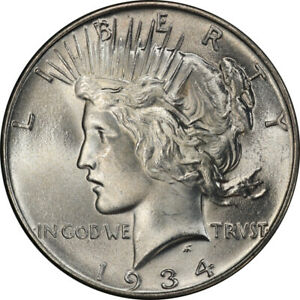 Click now to see the BUY IT NOW Price! 1934 $1 PEACE DOLLAR PCGS MS66   CAC  2862 4 PQ
