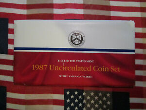 1987 US MINT SET NICE ORIGINAL PACKAGING PHILADELPHIA AND DENVER MINT
