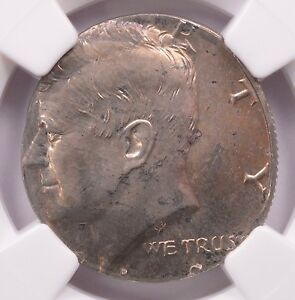 Click now to see the BUY IT NOW Price! NGC 50C 1968 D KENNEDY HALF STRUCK ON NICKEL PLANCHET MS 66