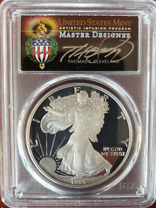Click now to see the BUY IT NOW Price! 1995 W $1 1OZ PROOF SILVER EAGLE PR70DCAM PCGS THOMAS CLEVELAND