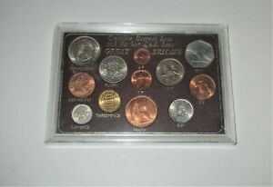 GREAT BRITAIN COMPLETE DECIMAL ISSUE UNCIRCULATED COINS