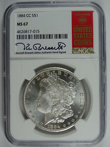 Click now to see the BUY IT NOW Price! 1884 CC $1.00 MORGAN SILVER DOLLAR RED BOOK LABEL NGC MS 67 5111
