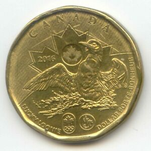 CANADA 2016 LUCKY LOONIE CANADIAN 1 DOLLAR $ COIN OLYMPIC COMMEMORATIVE LOON