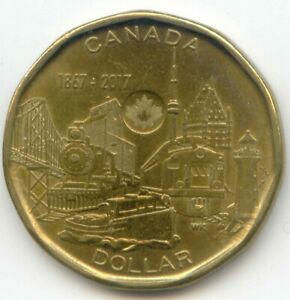 CANADA 1867   2017 CANADIAN LOONIE CANADIAN 1 DOLLAR $ COIN COMMEMORATIVE