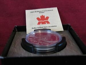 23123    2003 BRILLIANT UNCIRCULATED DOLLAR COBALT DISCOVERY