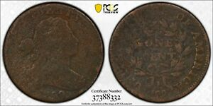 1799 DRAPED BUST COPPER LARGE CENT PCGS G DETAILS   ENVIRONMENTAL DAMAGE