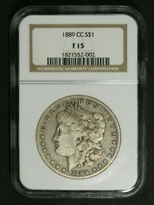 Click now to see the BUY IT NOW Price! 1889 CC CARSON CITY MORGAN SILVER DOLLAR NGC F 15