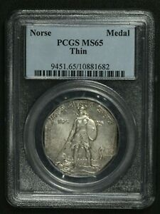 Click now to see the BUY IT NOW Price! 1925 THIN NORSE AMERICAN COMMEMORATIVE MEDAL PCGS MS 65
