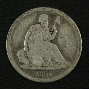 Click now to see the BUY IT NOW Price! 1837 NO DRAPERY SEATED LIBERTY SILVER DIME