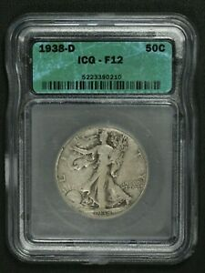 Click now to see the BUY IT NOW Price! 1938 D WALKING LIBERTY SILVER HALF DOLLAR ICG F 12
