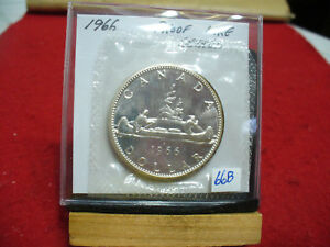 Click now to see the BUY IT NOW Price! 1966  CANADA  SILVER  DOLLAR  1$   HIGH   GRADE    66B    PROOF  LIKE    SEALED