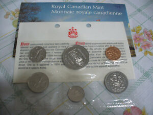 Click now to see the BUY IT NOW Price! 1974  CANADA   PROOF  LIKE SET  COINS  DOLLAR  HALF DOLLAR  QUARTER DIME NICKEL