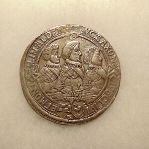 1623 GERMAN STATES   SILVER THALER   NICE LOOKING COIN   MOUNTING REMOVED