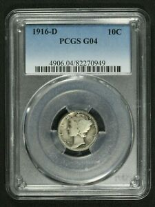 Click now to see the BUY IT NOW Price! 1916 D MERCURY SILVER DIME PCGS G 04