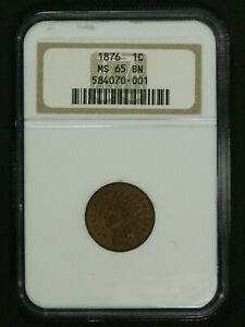 Click now to see the BUY IT NOW Price! 1876 INDIAN HEAD CENT COPPER PENNY NGC MS 65 BN