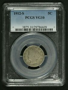 Click now to see the BUY IT NOW Price! 1912 S LIBERTY V NICKEL PCGS VG 10