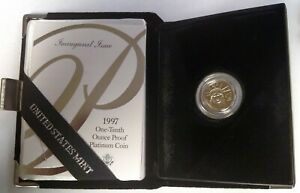 1997 W AMERICAN PLATINUM EAGLE PROOF 1/10 ONE TENTH OUNCE OGP FIRST YEAR ISSUE