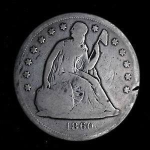 1860 O SEATED LIBERTY DOLLAR   G  DETAILS