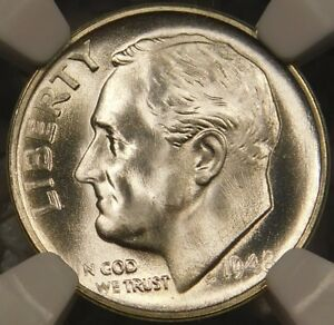 Click now to see the BUY IT NOW Price! 1948 S 10C ROOSEVELT DIME CERTIFIED NGC MS68FT FULL TORCH/BAND PRISTINE SPECIMEN