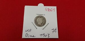 USA UNITED STATES COIN 1 ONE DIME 1903 REF48061