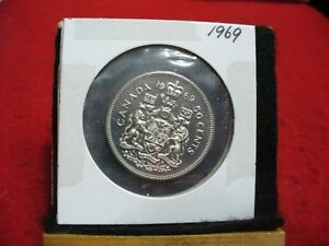 1969 CANADA  HALF  DOLLAR TOP GRADE  50 CENT PIECE  69  PROOF LIKE  SEALED
