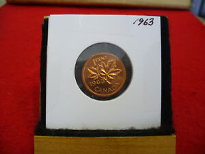 1963  CANADA  1  CENT COIN  PENNY  PROOF LIKE  HIGH  GRADE  SEALED  SEE PHOTOS