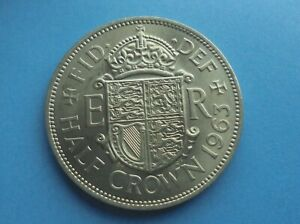 ELIZABETH II 1963 HALFCROWN EXCELLENT CONDITION.