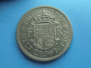 ELIZABETH II 1962 HALFCROWN EXCELLENT CONDITION.