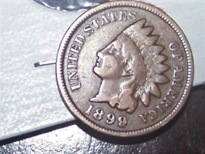 1899 INDIAN HEAD PENNY ERROR FILLED 9 VG CONDITION