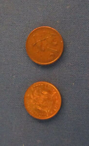 SOUTH AFRICA   TWO 1 CENT COINS