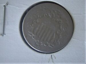 1872 SHIELD NICKEL ERROR RPD  REPUNCHED DATE  G/VG