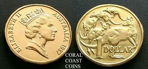 1987 $1 DOLLAR COIN FIRST MINT SET ONLY MOB OF ROOS CHOICE  .ONLY 69 684 MINTED.