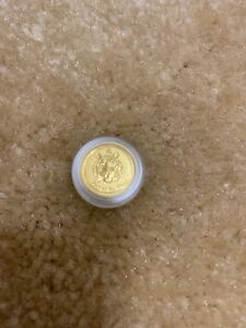 2010 AUSTRALIA 1/20 OZ GOLD LUNAR TIGER  BU IN CAPSULE  SERIES 2   $5