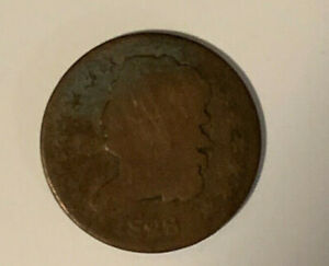 1828 $.005 CLASSIC HEAD HALF CENT COIN CLASSIC GOOD