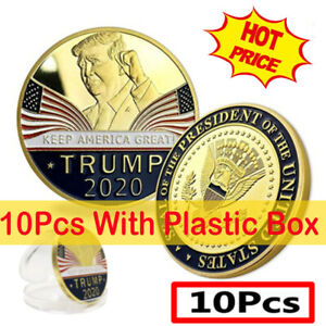 10X DONALD TRUMP 2020 KEEP AMERICA GREAT COMMEMORATIVE CHALLENGE EAGLE COINS YC