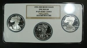 Click now to see the BUY IT NOW Price! 1998 1999 & 2000 PROOF SILVER EAGLE SET NGC PR 69 ULTRA CAMEO