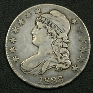Click now to see the BUY IT NOW Price! 1833 O 104 CAPPED BUST SILVER HALF DOLLAR