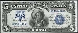 Click now to see the BUY IT NOW Price! 1899 $5 FIVE DOLLAR CHIEF SILVER CERTIFICATE NOTE FR277