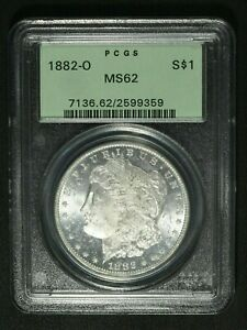 Click now to see the BUY IT NOW Price! 1882 O MORGAN SILVER DOLLAR PCGS MS 62   OGH