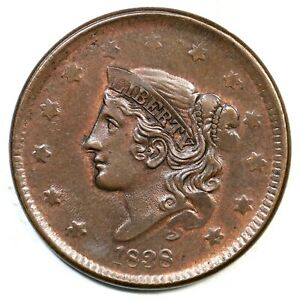 Click now to see the BUY IT NOW Price! 1838 N 16 R 5  MATRON OR CORONET HEAD LARGE CENT COIN 1C