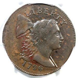 Click now to see the BUY IT NOW Price! 1796 S 82 R 5 PCGS AU 53 LIBERTY CAP LARGE CENT COIN 1C