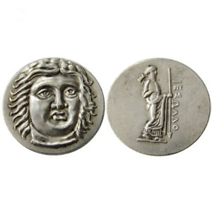 SILVER PLATED ANCIENT GREEK COIN  COIN CRAFT GIFT COMMEMORATIVE COIN NO.23