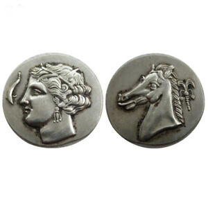 SILVER PLATED ANCIENT GREEK COIN  COIN COMMEMORATIVE COIN  CRAFT GIFT NO.22