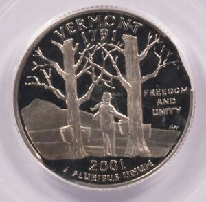 Click now to see the BUY IT NOW Price! PCGS 25C 2001 S PROOF VERMONT QUARTER 5  DOUBLE CURVED CLIPPED PR68 DCAM
