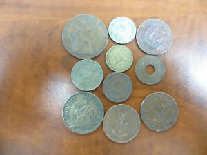 OLD FOREIGN COINS 10 COIN LOT   WE COMBINE SHIPPING
